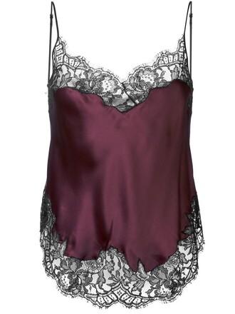 camisole lace purple pink underwear