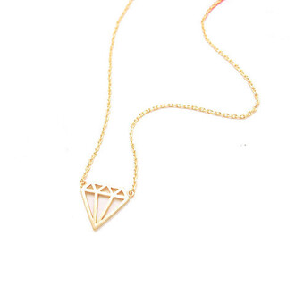 jewels accessories bikini luxe jewelry dainty necklace diamond charm flat diamond necklace flat diamond shape necklace gold dainty necklace gold diamond necklace gold diamond shaped necklace layering necklace silver diamond necklace silver diamond shaped necklace simple necklace sterling silver necklace bikiniluxe