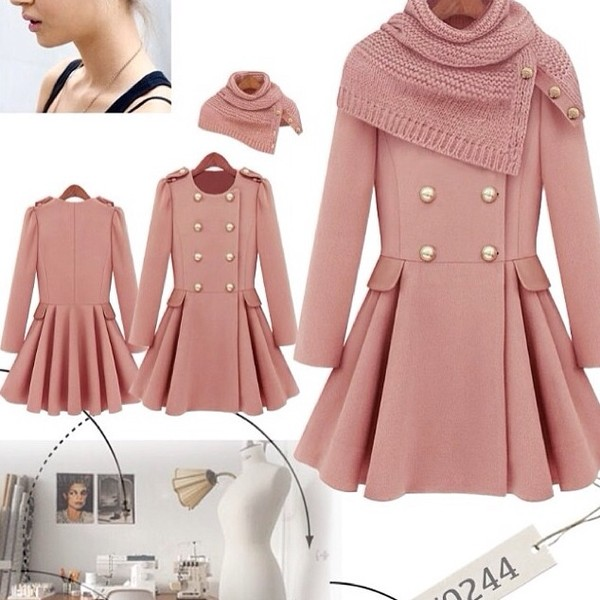 coat rose pink jacket