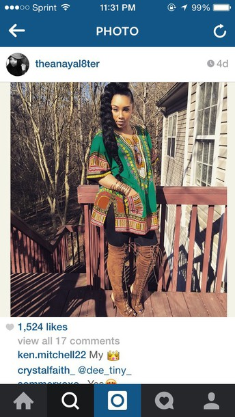 top shirt tribal pattern