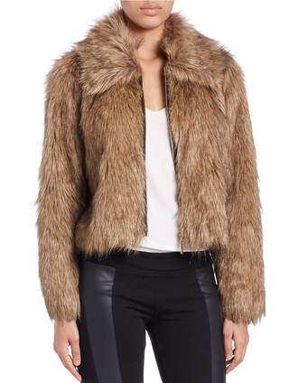jacket faux fur faux fur jacket brown jacket
