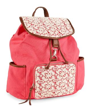 Floral Crochet Backpack -