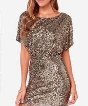 dress,gold,sequins,wrap