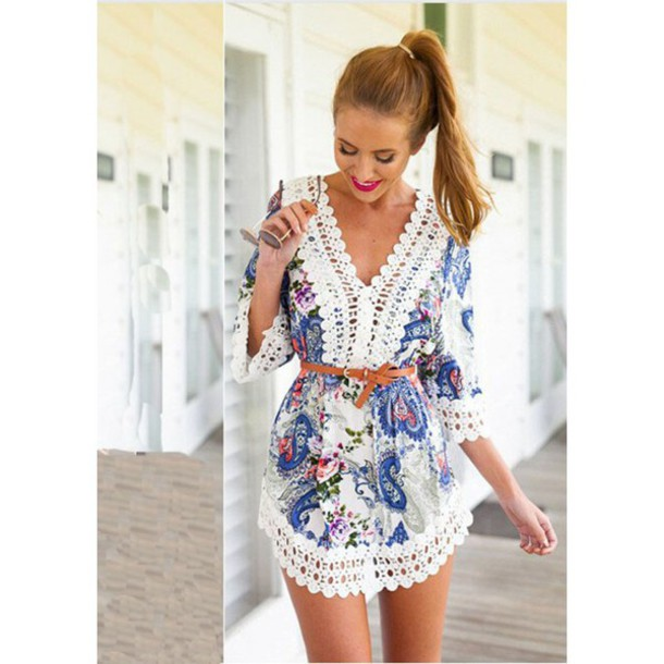 d39513d937e3 jumpsuit floral dress white pink floral vintage bagpack floral skirt v neck  dress v neck dress