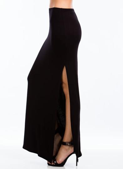 Get-Your-Slit-Together-Maxi-Skirt BLACK FUCHSIA HGREY RED ROYAL - GoJane.com