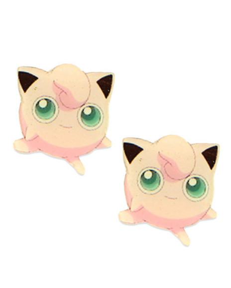 pokemon jigglypuff jewels earrings pokemon earrings pokemon jewelery jigglypuff earrings