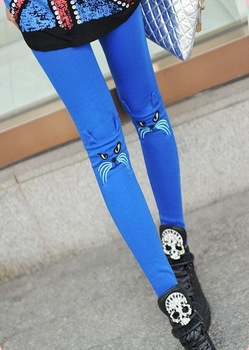 2013 Winter Women's Candy Color Leggings fashion new arrival Angry Cat Leggings Multi Colored wholesale Hot Sales Free Shipping-in Leggings from Apparel & Accessories on Aliexpress.com