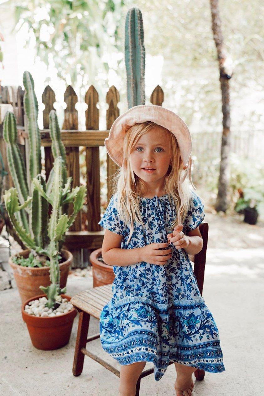 Camilla Kiddies Dress in Bluebird