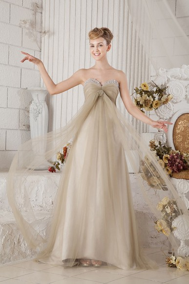 brown dress long prom dresses long formal dress tulle dress empire waist dress sweetheart dresses twisted