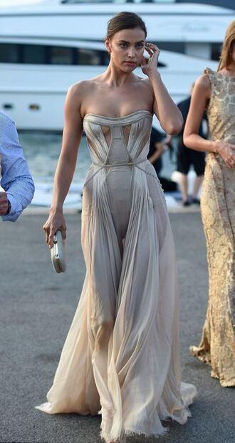 dress gown strapless prom dress irina shayk bustier dress romantic dress