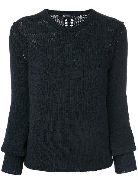 Tom Ford jumper women spandex cotton black sweater