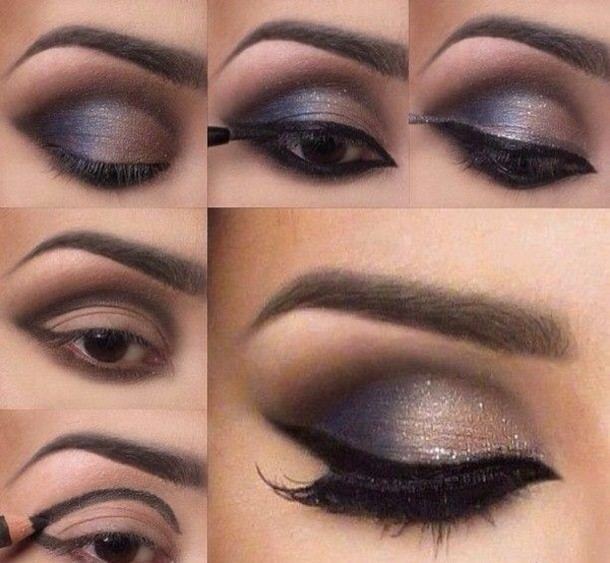 Make Up Sexy Eyes Black Brown Hairmakeup Inspo Diamonds