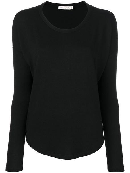 Rag & Bone /Jean - Hudson long sleeve tee - women - Polyester/Spandex/Elastane/Rayon - XS, Black, Polyester/Spandex/Elastane/Rayon