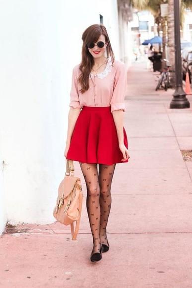 skirt red skirt red godet skirt