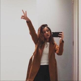 coat brown andrea russett
