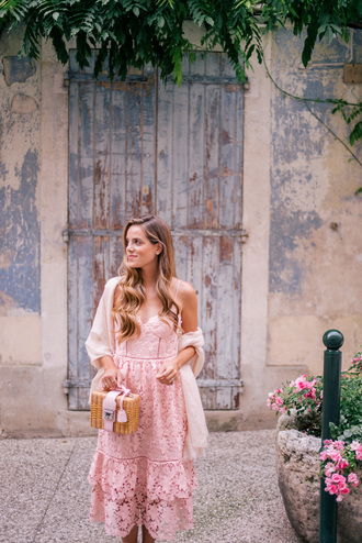 dress slip dress tumblr pink dress lace dress bag boxed bag scarf