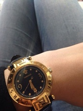 jewels,versace,watch,gold