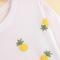 White short sleeve pineapple print loose t-shirt - sheinside.com