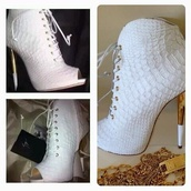 shoes,white,ankle boots
