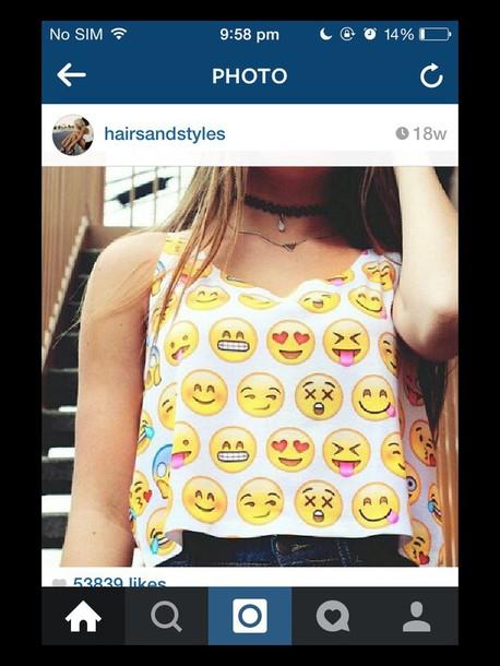 tank top emoji shirt