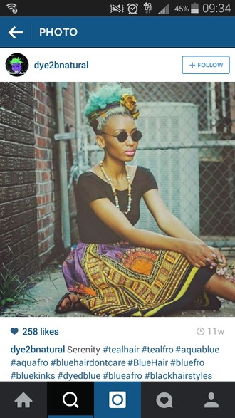 skirt a-line ankara ethnic pattern pockets