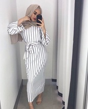 dress,black and white stripes