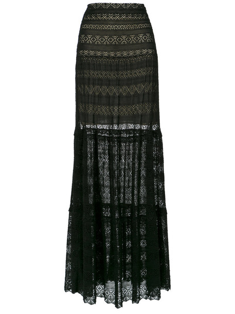 Cecilia Prado skirt long skirt long women black knit