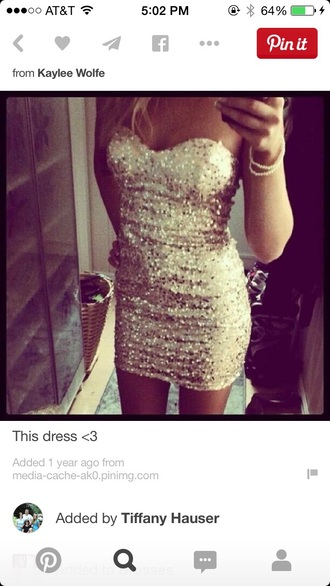 dress short dress formal gold sequins