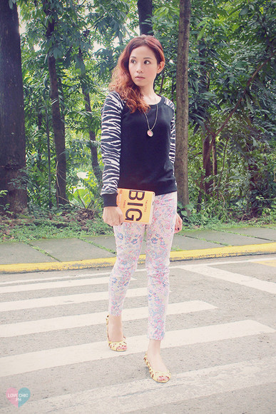 zebra print blogger love chic jewels pants
