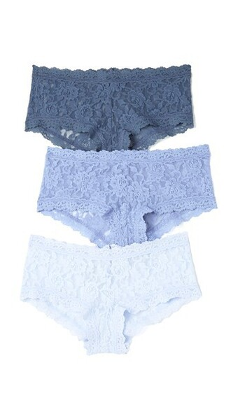 shorts lace blue