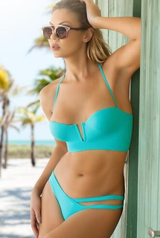 top triple lined peixoto bikini top bustier padded top bikini