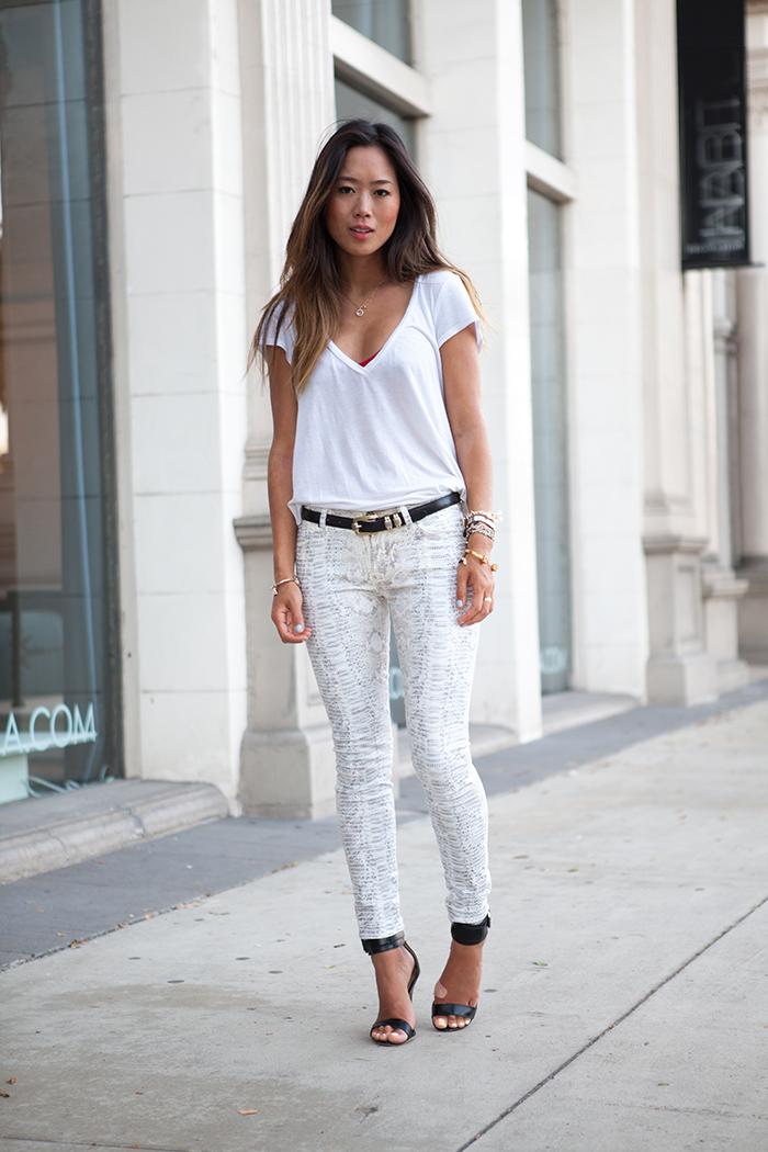 Song of style: white reptile for a white summer