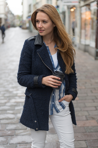 fashion gamble blouse jeans jacket shoes