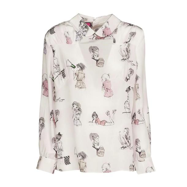 Miu Miu blouse printed blouse rose lady print top