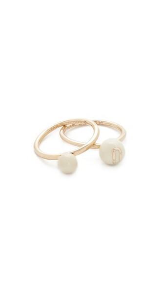 ball ring cream jewels