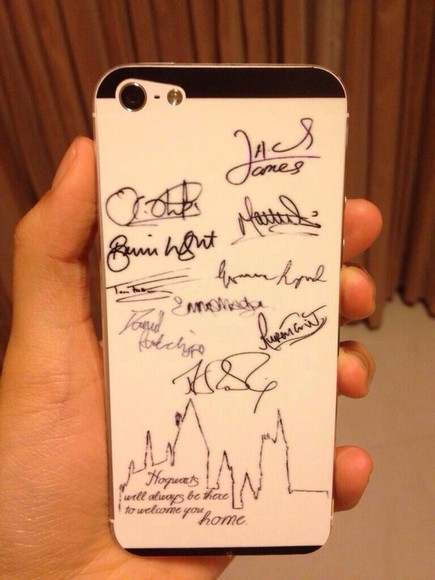 harry potter jewels iphone 5 cover iphone cover white autograph hogwarts black iphone 5 case iphone iphone 5 cases