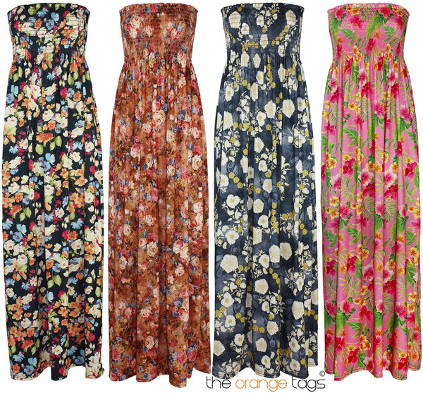 dress long maxi maxi dress floral floral summer spring evening dress strapless sexy trendy festival grecian maxi dress coachella floral maxi dress