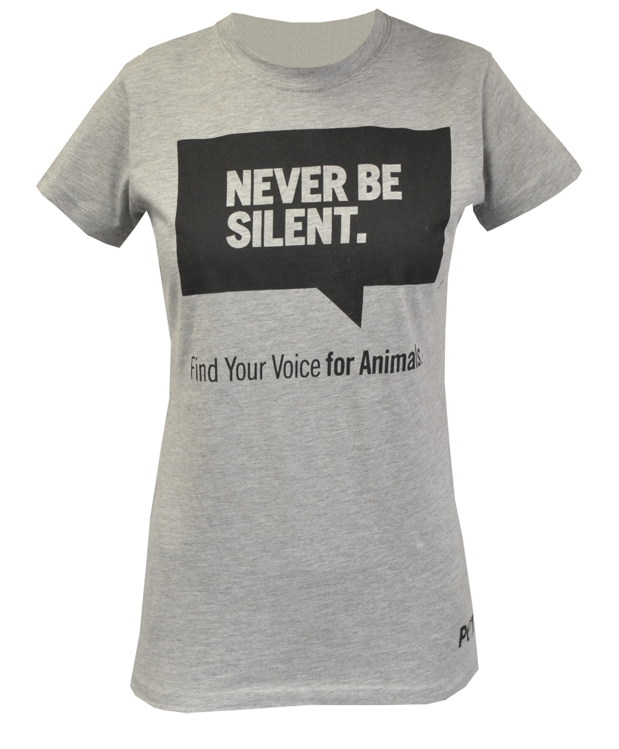 Never Be Silent Fitted T-Shirt: PETA Catalog