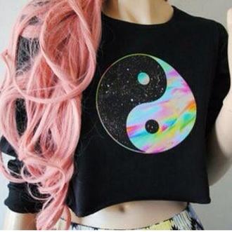 ying yang crop tops