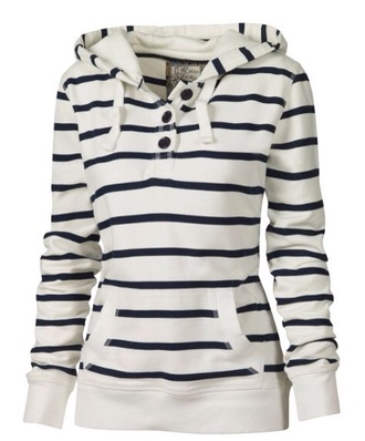 sweater white fashion style fall outfits casual sporty cute trendy winter outfits stripes long sleeves hoodie clothes jumper buttons cool warm cozy