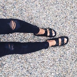 shoes black leather snake skin birkenstocks