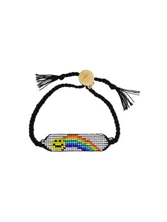 rainbow smiley black jewels