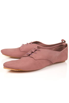 Monk pink soft lace up shoes