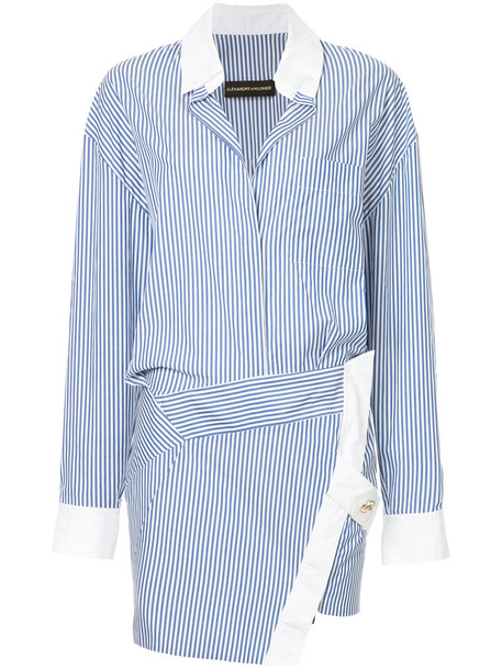 alexandre vauthier dress tunic dress women cotton blue