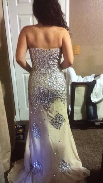 dress giovanni prom prom dress sparkles sequin sequin dress sparkydress white silver