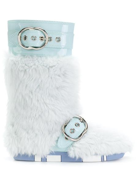 Miu Miu fur women cotton blue shoes