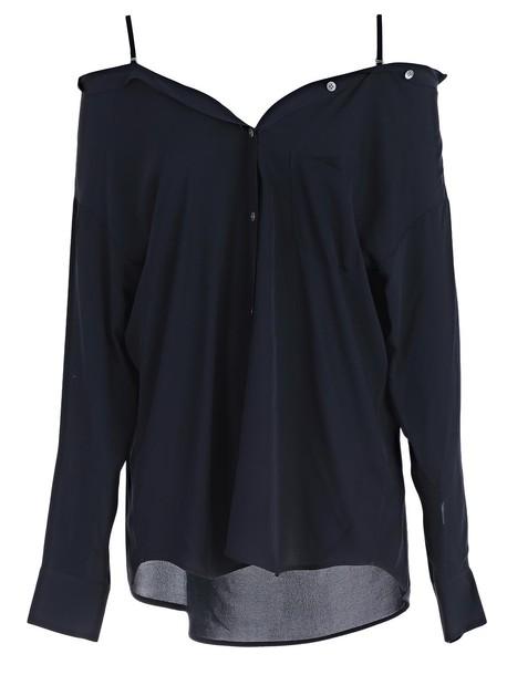 theory shirt navy top