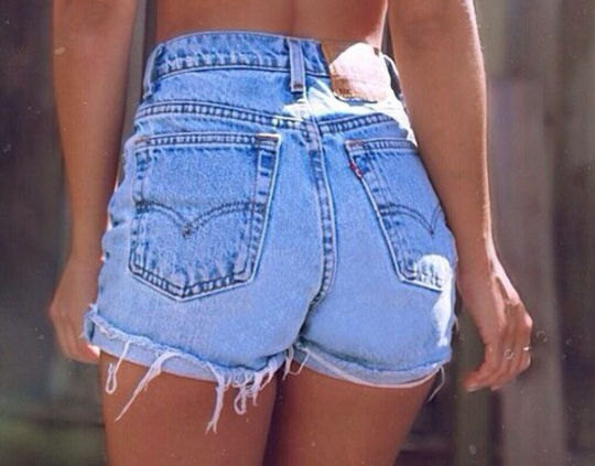 High Waist Retro Levi Shorts