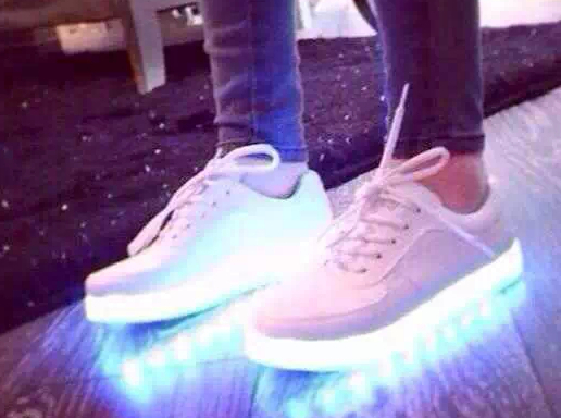 Online Shop Free Shipping Mag AKA Marty McFly Back To The Future Glow In The Dark Sole Mag Limited Edition Sneaker Led Shoes Blue/white/pink|Aliexpress Mobile