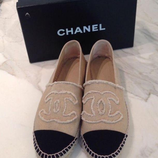 shoes, chanel, espadrilles, beige